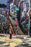 Graffiti d'artiste non identifié sur le mur de l'allée de Batman image libre de droits