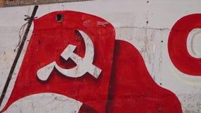 Graffiti d'un drapeau banque de vidéos