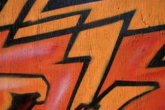 Graffiti d'un rouge ardent Images stock