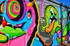 Graffiti dans Corktown, Detroit images libres de droits