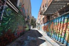Graffiti dans la mission Images libres de droits