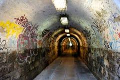 Graffiti dans le tunnel Photographie stock libre de droits