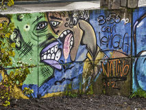 Graffiti de baiser Images stock