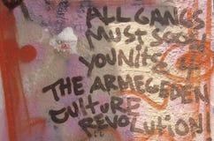 Graffiti de bande après des émeutes, Los Angeles centrale du sud, la Californie Photographie stock libre de droits