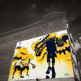 Graffiti de basket-ball image libre de droits