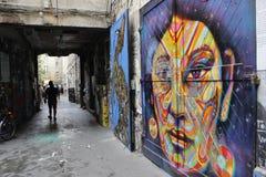 Graffiti de Berlin image stock