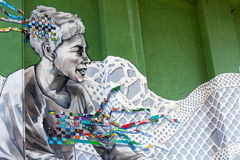 Graffiti de Bilbao, Espagne du nord Photographie stock libre de droits