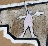 Graffiti de cupidon Images stock