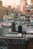 Graffiti de dessus de toit de New York Image libre de droits