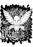 Graffiti de diable illustration de vecteur