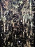 Graffiti de fenêtre Photographie stock libre de droits