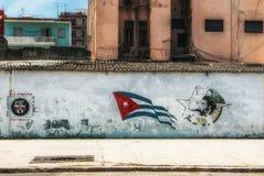 Graffiti de Havana Cuba Young Communist League image stock