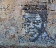 Graffiti de légende de boxe Photographie stock