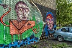 Graffiti de Montréal Images libres de droits