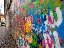 Graffiti de mur de John Lennon à Prague, République Tchèque Image libre de droits