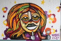Graffiti de Paris Photographie stock libre de droits