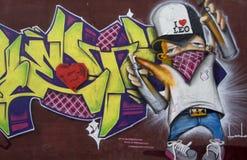 Graffiti de peintre de jet Photos stock