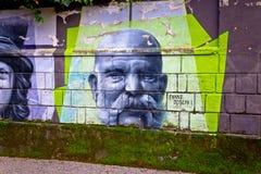 Graffiti de peinture murale de Franz Joseph I d'empereur image libre de droits
