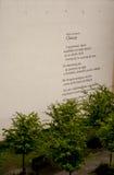 """Graffiti de poème dans le """"de PoznaÅ, Pologne Photographie stock"""