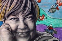 Graffiti de portrait dans le mur argetinian Images stock