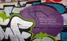 Graffiti de redoute de York Photos libres de droits