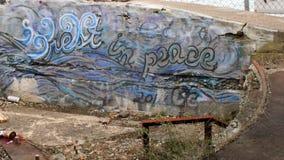 Graffiti de redoute de York Image stock