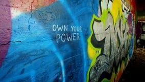 Graffiti de redoute de York Images stock