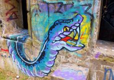 Graffiti de redoute de York Image libre de droits