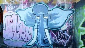 Graffiti de redoute de York Images libres de droits