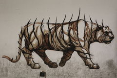 Graffiti de Rome images libres de droits