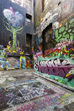 Graffiti de rue de Melbourne Photos stock