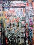 Graffiti de salle de bains de NYC image stock