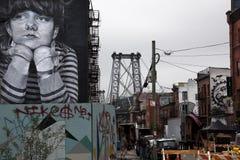 Graffiti in de straat van Brooklyn New York Stock Fotografie
