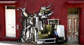Graffiti de vente de camelote, Valparaiso Images libres de droits