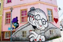 Graffiti de vieille dame Photos stock