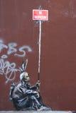 Graffiti del Banksy Fotografie Stock