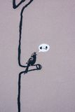 Graffiti del Banksy Immagine Stock