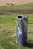 Graffiti del bidone della spazzatura Fotografia Stock