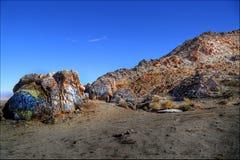 Graffiti del deserto Fotografia Stock