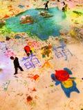Graffiti del ghiaccio il giorno del ` s dei bambini Immagine Stock