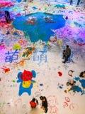 Graffiti del ghiaccio il giorno del ` s dei bambini Fotografia Stock Libera da Diritti