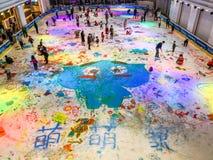 Graffiti del ghiaccio il giorno del ` s dei bambini Fotografie Stock