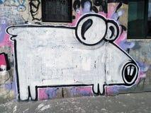 Graffiti del maiale immagini stock libere da diritti