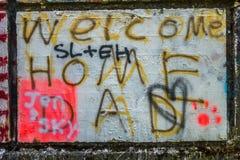 Graffiti 4 del passaggio Immagini Stock