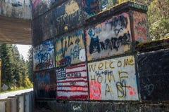 Graffiti 1 del passaggio Immagini Stock