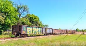 Graffiti del vagone Fotografia Stock Libera da Diritti