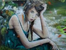 Graffiti del vicolo Fotografie Stock Libere da Diritti