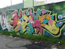 Graffiti del vicolo Immagini Stock