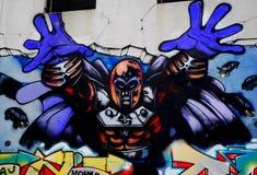 Graffiti dell'eroe eccellente Fotografia Stock Libera da Diritti