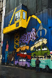 Graffiti dell'iarda di ciarpame Immagine Stock